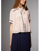 Patrizia Pepe Shirt In Silk Crepe De Chine - Lyst