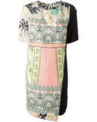 Etro Mixed-Print Panelled Dress - Lyst