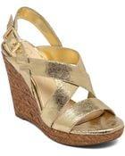 Jessica Simpson Jerrimo Platform Wedge Sandals - Lyst