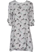 Marni Printed Silk-Crepe Dress - Lyst