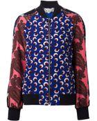 Stella McCartney Mix Print Bomber Jacket - Lyst