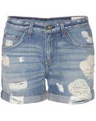 Rag & Bone Boyfriend Denim Shorts - Lyst