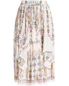 Etro Glastonbury Printed Silk Skirt - Lyst