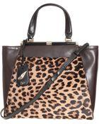 Diane von Furstenberg Rail Tote Leopard Print Calf Hair - Lyst