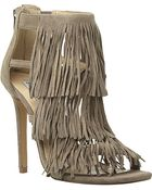 Steve Madden Fringed Suede Heeled Sandals - For Women - Lyst
