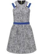 Markus Lupfer Stripe Cord Naomi Strap Dress - Lyst