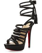 Christian Louboutin Top Tina Platform Ankletie Sandal - Lyst