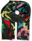 Valentino Camouflage Scarf - Lyst