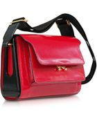 Marni Metal Trunk Hot Red Patent Leather Shoulder Bag - Lyst