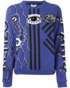 Kenzo Multi-Logo Cotton Sweatshirt - Lyst