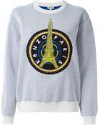 Kenzo Embellised Eiffel Tower Sweater - Lyst