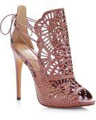 Alexandre Birman Cut-Out Python Sandals - Lyst