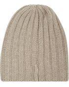 Hawick Corsa Moondust Wide Rib Cashmere Hat - Lyst