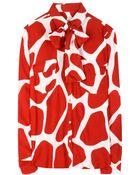 Stella Jean Scimmia Printed Silk Shirt - Lyst