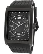 Swiss Legend Limousine Black Silicone And Dial Black Ip Stainless Steel Case - Lyst