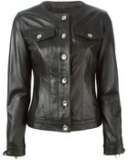 Love Moschino Lace-Up Sleeves Jacket - Lyst