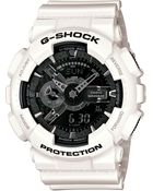 G-Shock Men'S Analog-Digital White Resin Strap Watch 51X55Mm Ga110Gw-7A - Lyst