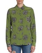 Equipment Brett Floral Print Silk Blouse - Lyst