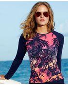 Tommy Bahama Long-Sleeve Ombre Tropical-Print Rashguard - Lyst