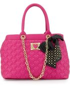 Betsey Johnson Heart-Quilted Tote Bag - Lyst