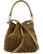 Saint Laurent Emmanuelle Medium Calf-Leather Bucket Bag - Lyst