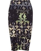 Zero + Maria Cornejo Printed Stretch-Crepe Pencil Skirt - Lyst