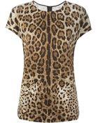 Dolce & Gabbana Leopard Print T-Shirt - Lyst