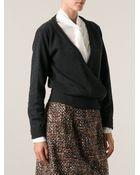 Dolce & Gabbana Draped Sweater - Lyst