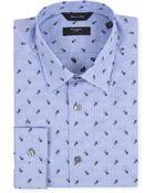 Paul Smith Blue Pinstripe Floral Byard Shirt - Lyst