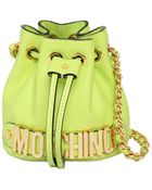 Moschino Mini Leather Bucket Bag - Lyst