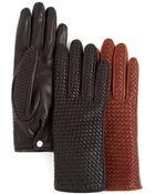 Agnelle Basketweave Gloves - Lyst