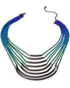 Material Girl Gunmetaltone Rainbow Ombre Chain Necklace - Lyst