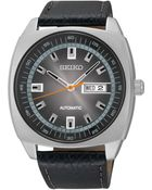Seiko Men'S Automatic Black Leather Strap Watch 44Mm Snkn01 - Lyst