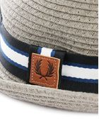 Fred Perry Grey Cord Hat - Lyst