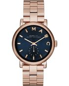 Marc By Marc Jacobs Mbm3330 Baker Rose Gold-Toned Pvd Watch - For Women - Lyst