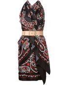 Moschino Paisley Halter Dress - Lyst