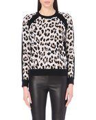 Joseph Leopard Jacquard Knitted Jumper - Lyst