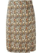 Jean Louis Scherrer Vintage Animal Print Pencil Skirt - Lyst