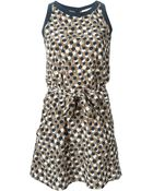 Vanessa Bruno Athé Belted Printed Dress - Lyst