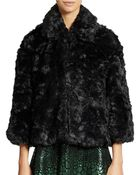 French Connection Faux Fur Coat - Lyst