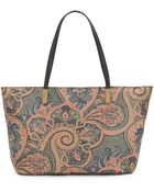 Eric Javits Faith Paisley Coated-Canvas Tote - Lyst