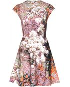 Carven Printed Cotton Dress - Lyst