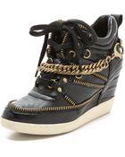 Ash Bluff Chain Wedge Sneakers - Black - Lyst