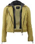 Doma Detachable Hood Leather Moto Jacket - Lyst
