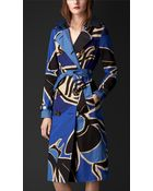 Burberry Book Cover Print Trench Coat - Lyst