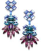 Dannijo Becker Crystal Drop Earrings - Lyst