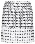 Erdem Mari Tweed Miniskirt - Lyst
