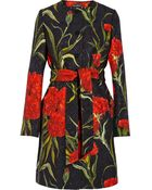 Dolce & Gabbana Brocaded Belted Coat - Lyst