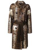 Liska 'Antigone' Leopard Print Coat - Lyst