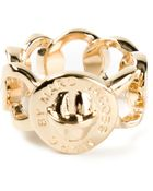 Marc By Marc Jacobs Rolo Chain Ring - Lyst